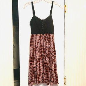 Xhiliration Animal-like Printed Latch Up Dress